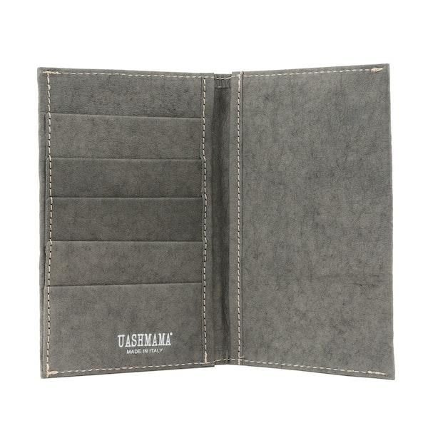 UASHMAMA Wallet Large Dark Grey