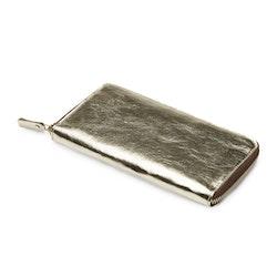 UASHMAMA Vita Wallet Large Metallic Metallic Platinum