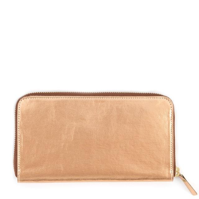 UASHMAMA Vita Wallet Large Metallic Metallic Rosato