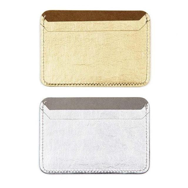 UASHMAMA Siena Card Holder  Metallic Gold