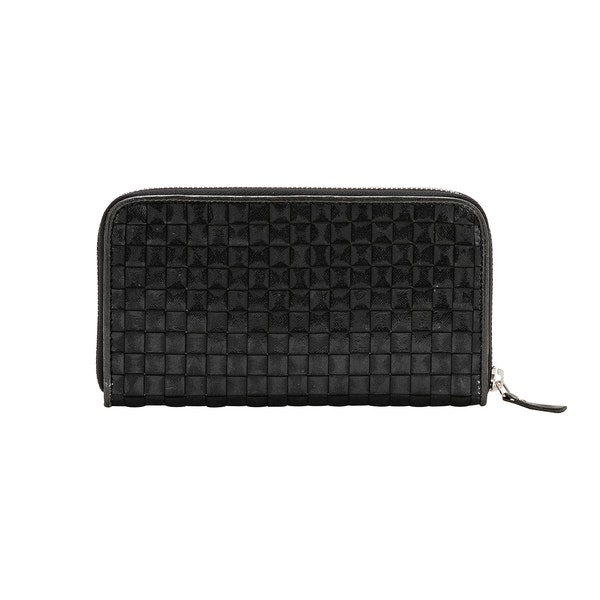 UASHMAMA Vita Wallet Large Intrecciato Black