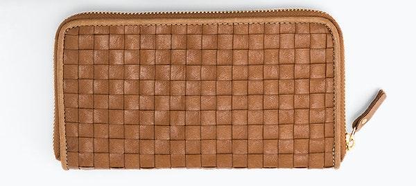 UASHMAMA Vita Wallet Large Intrecciato Cuoio Woven