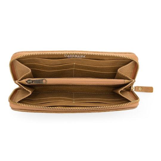UASHMAMA Vita Wallet Large Intrecciato Cuoio intrecciato