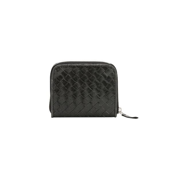 UASHMAMA Vita Wallet Small Intrecciato Black