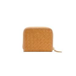 UASHMAMA Vita Wallet Small Intrecciato Camel