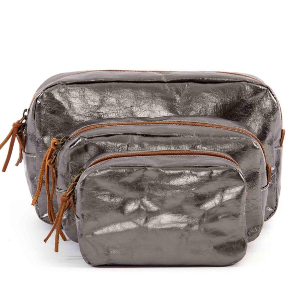 UASHMAMA Beauty Case Small Metallic Metallic Peltro