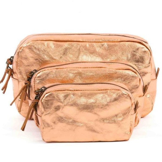 UASHMAMA Beauty Case Medium Metallic Metallic Rosato