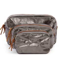 UASHMAMA Beauty Case Large Metallic Metallic Peltro