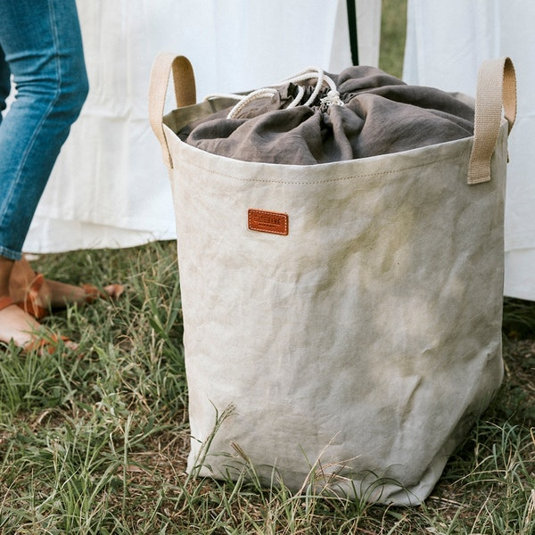 UASHMAMA Positano Laundry Linen  Grey