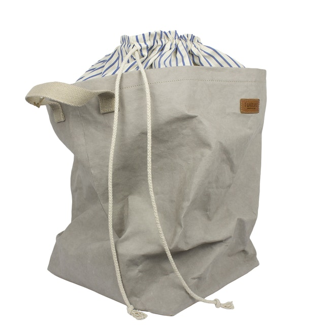 UASHMAMA Positano Laundry Striped Cotton Grey