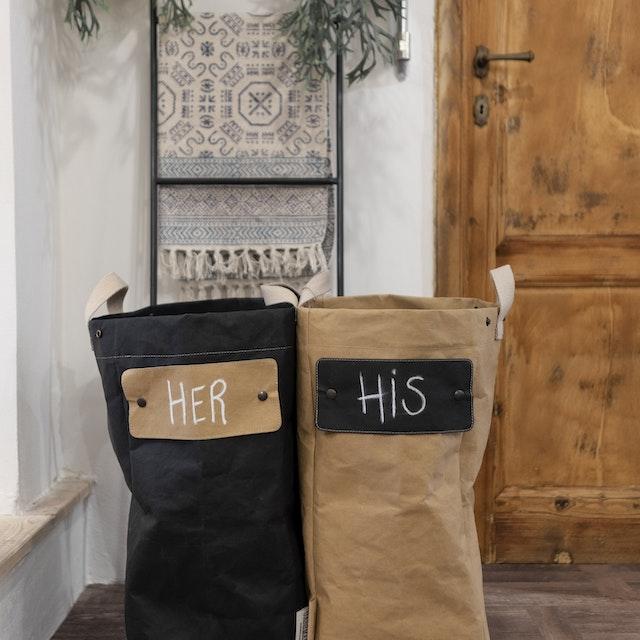 UASHMAMA Laundry Bag Black