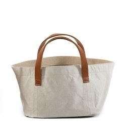 UASHMAMA Vassoio Leather Handles  Grey