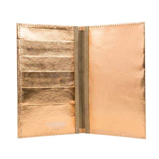 UASHMAMA Wallet Large Metallic