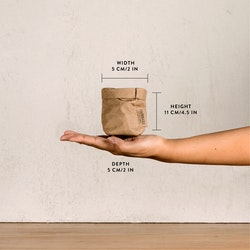 UASHMAMA Paper Bag Metallic Xsmall