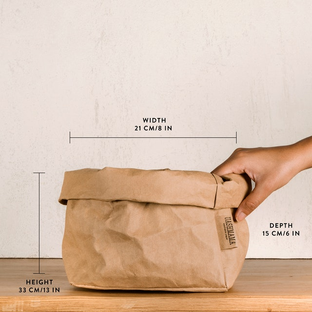 UASHMAMA Paper Bag Metallic Large
