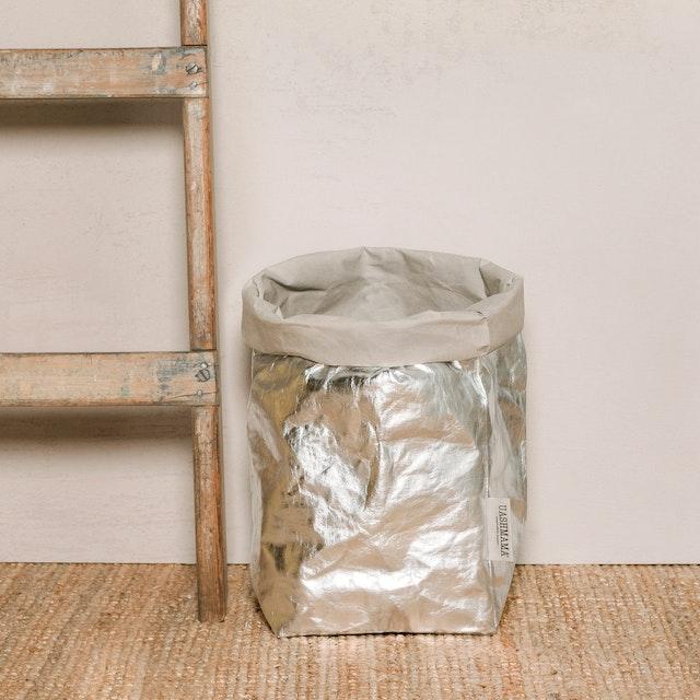 UASHMAMA Paper Bag Metallic Extra Large