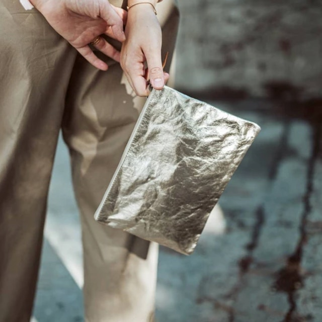 UASHMAMA Gimi Purse Medium Metallic