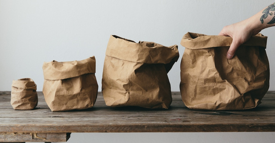 WASHABLE-PAPER BAGS: INSTRUCTION FOR USE