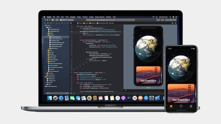 Xcode, de ontwikkelomgeving voor iOS, iPadOS en macOS.