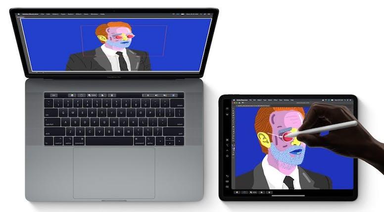 Met sidecar iPad als tekentablet