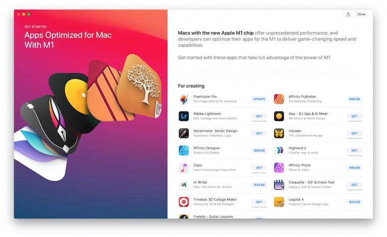 iOS apps op de Mac met M1