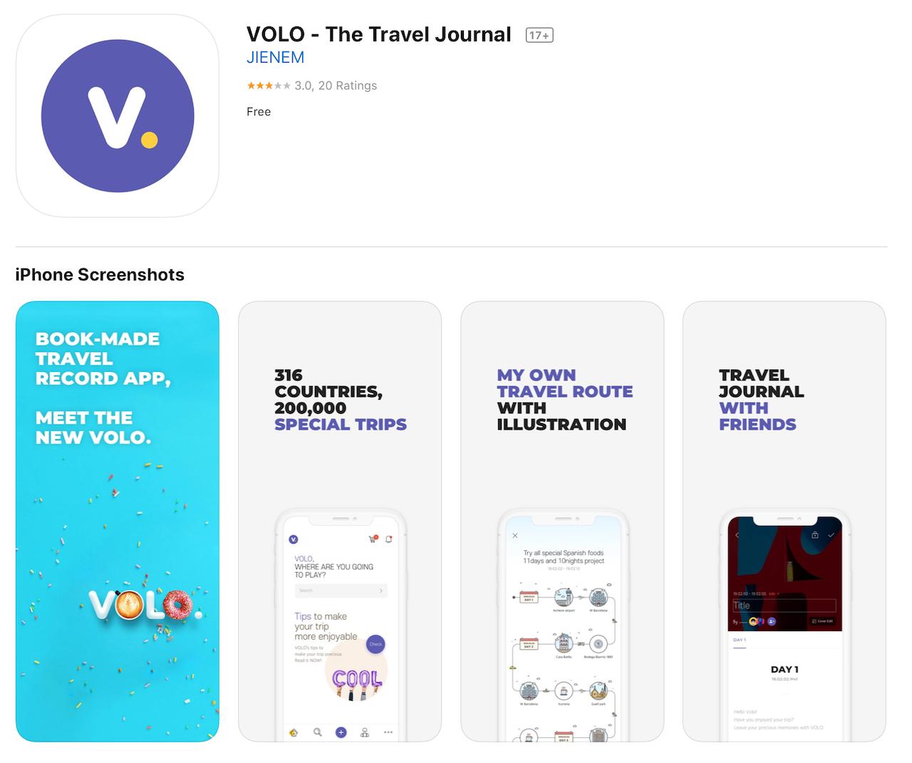 volo app store screenshots