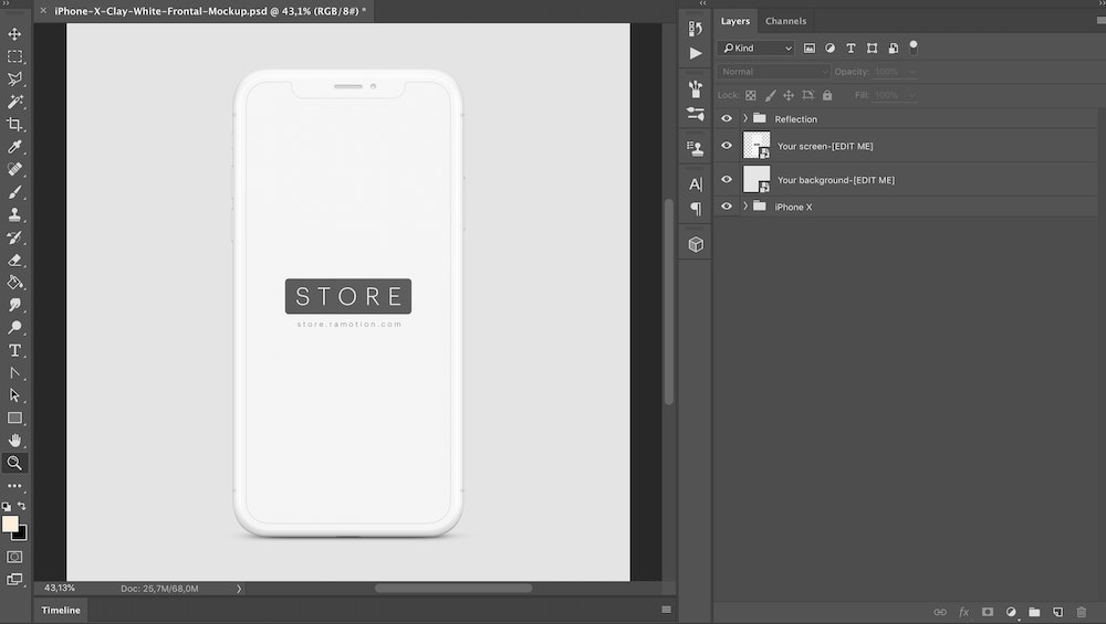 What is an iPhone device mockup template? (And How to Use One)