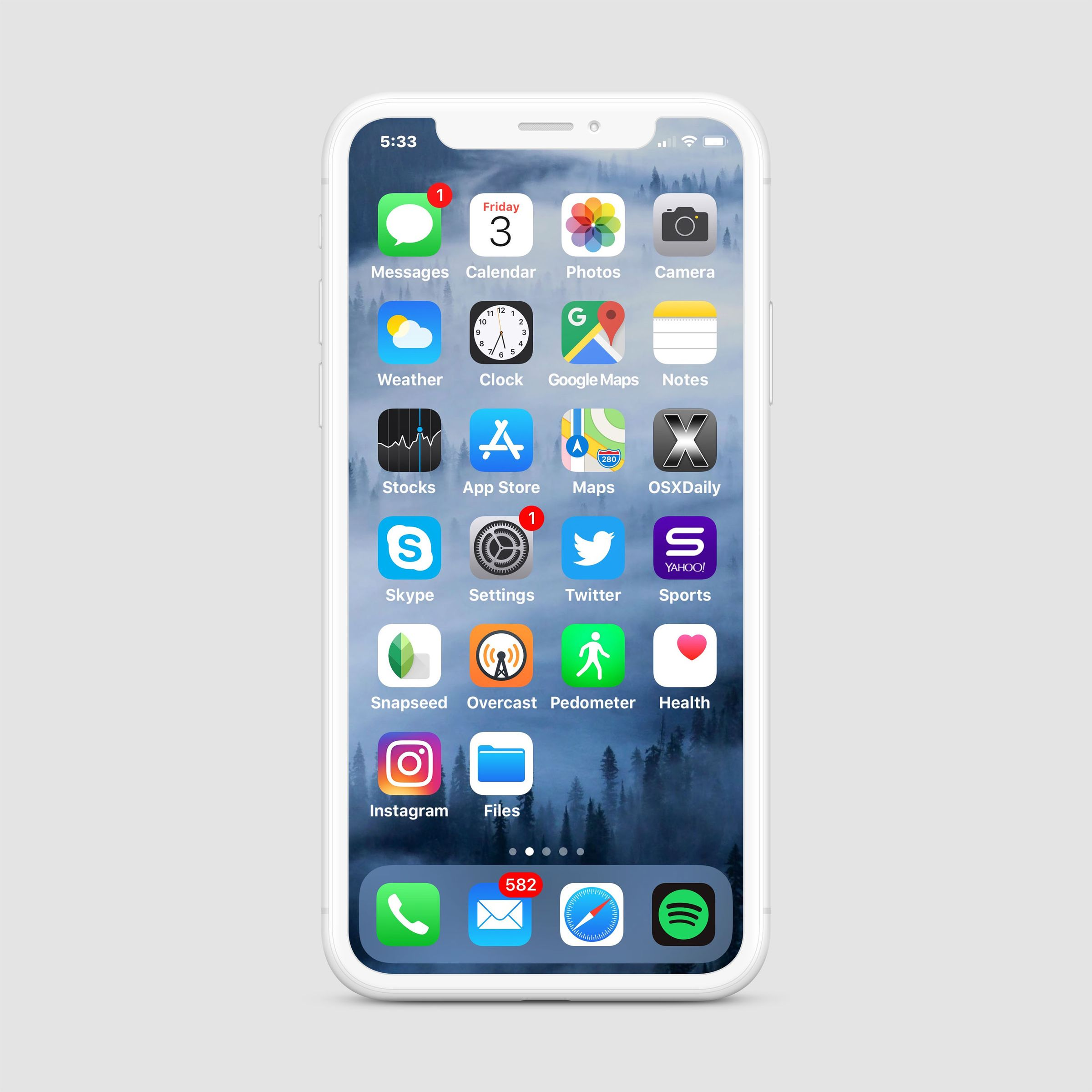 iPhone mockup with saved smart object