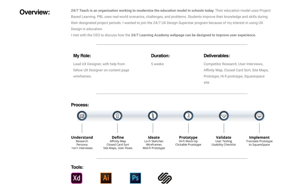 Creating a Web Design Portfolio – Without Work Experience