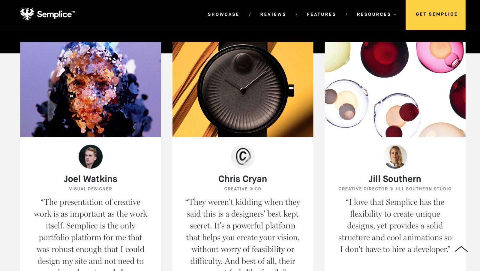 Semplice website