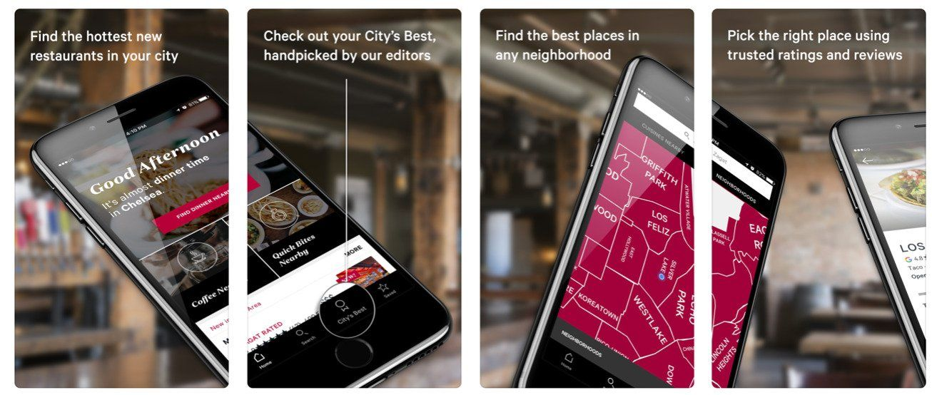 zagat app store screenshots