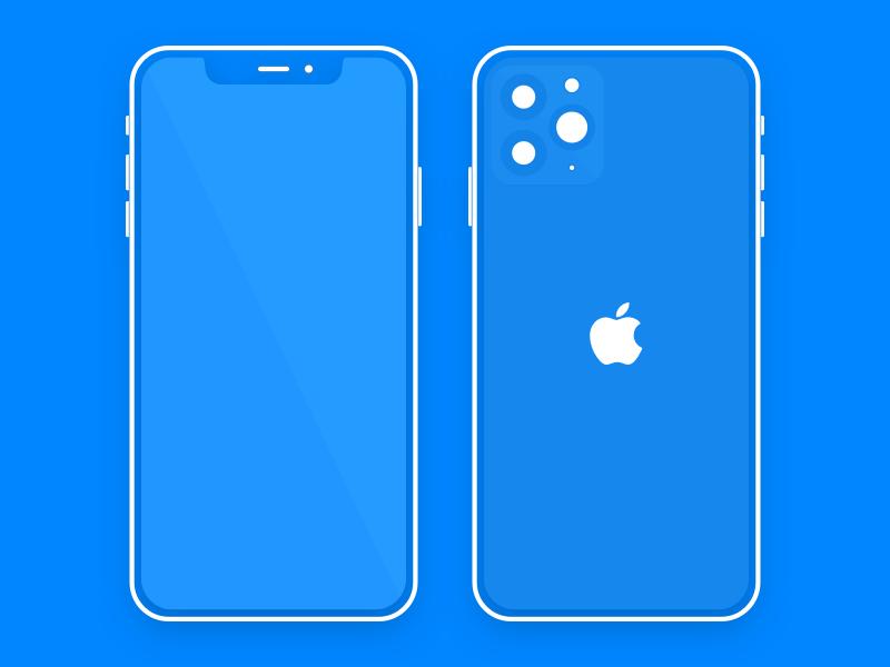 Flat iPhone 11 Mockup