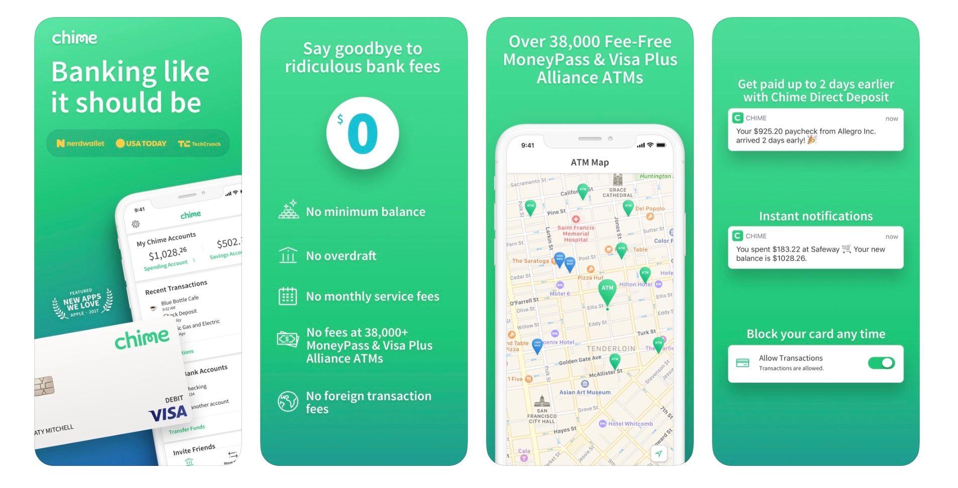 Chime App Store Screenshots