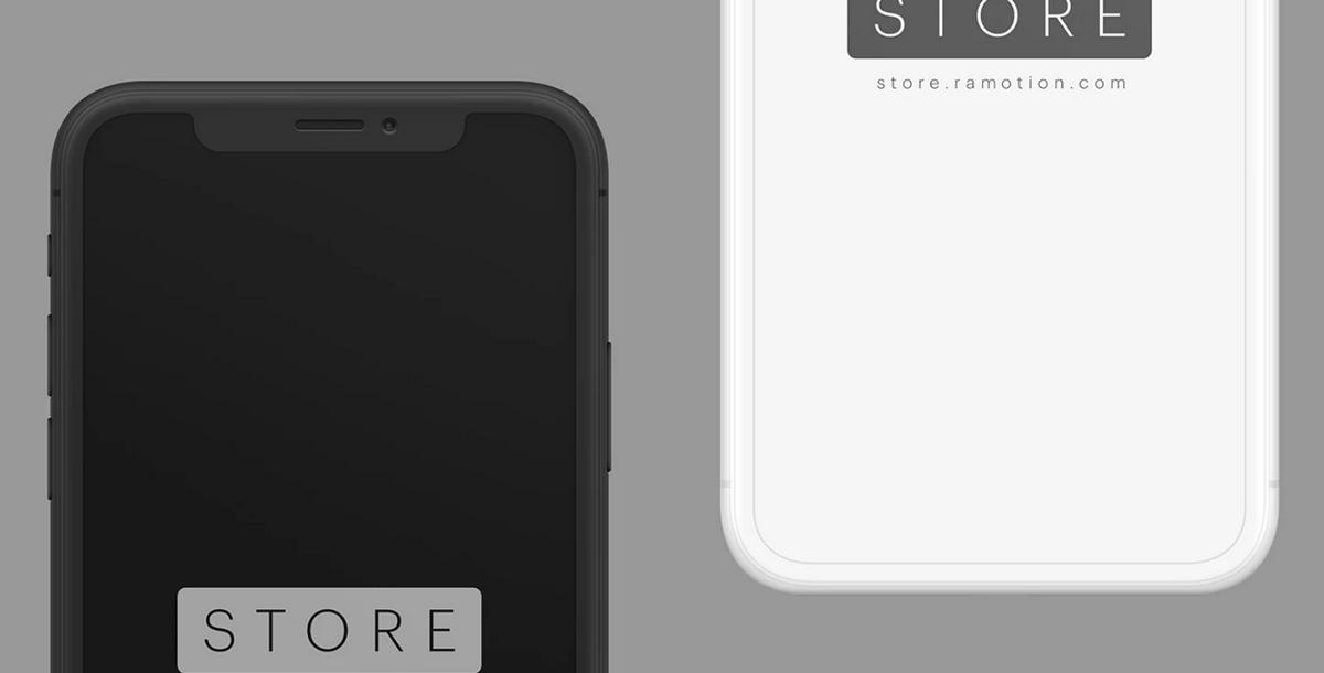 Frontal iPhone mockup