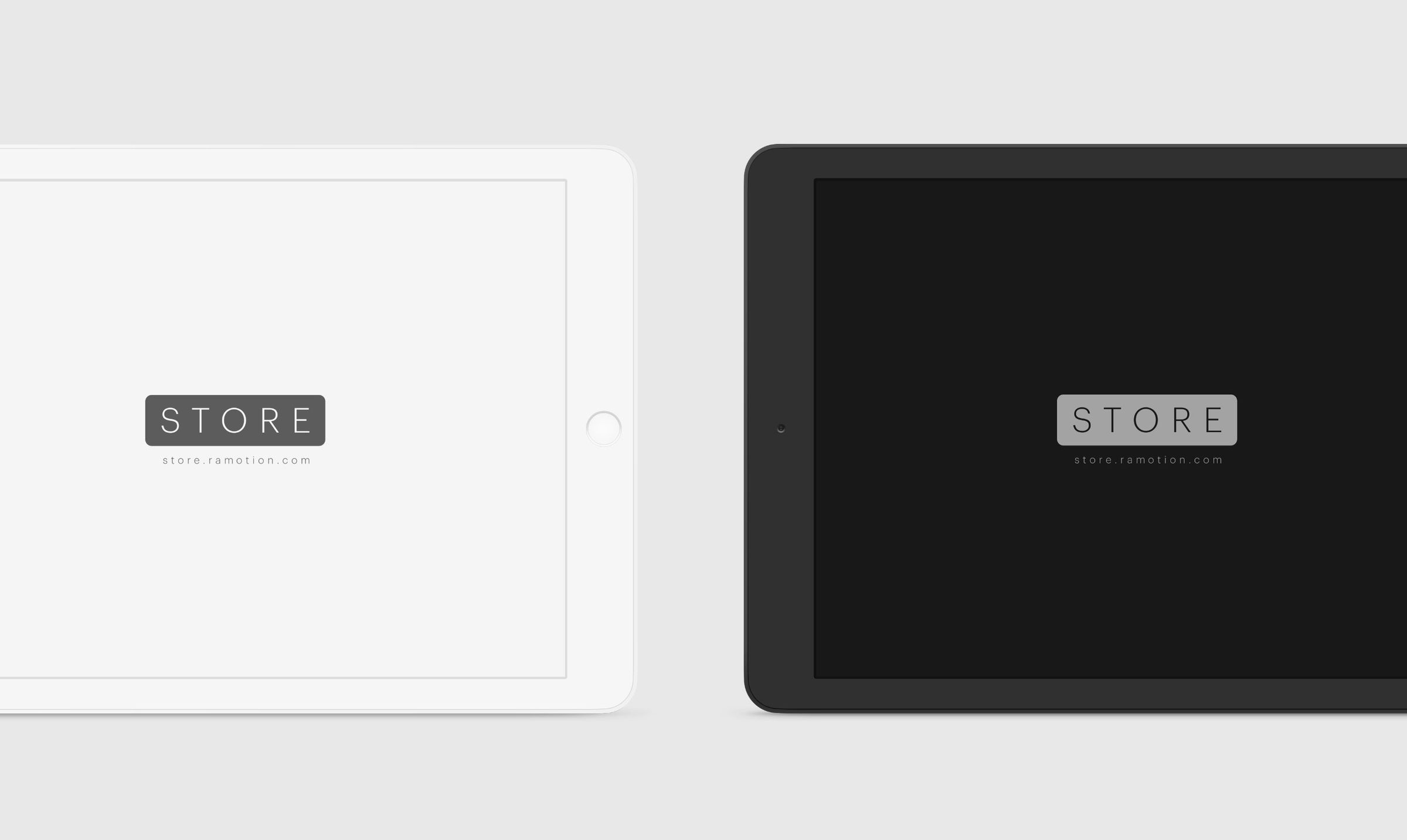 white and black ipad mockups