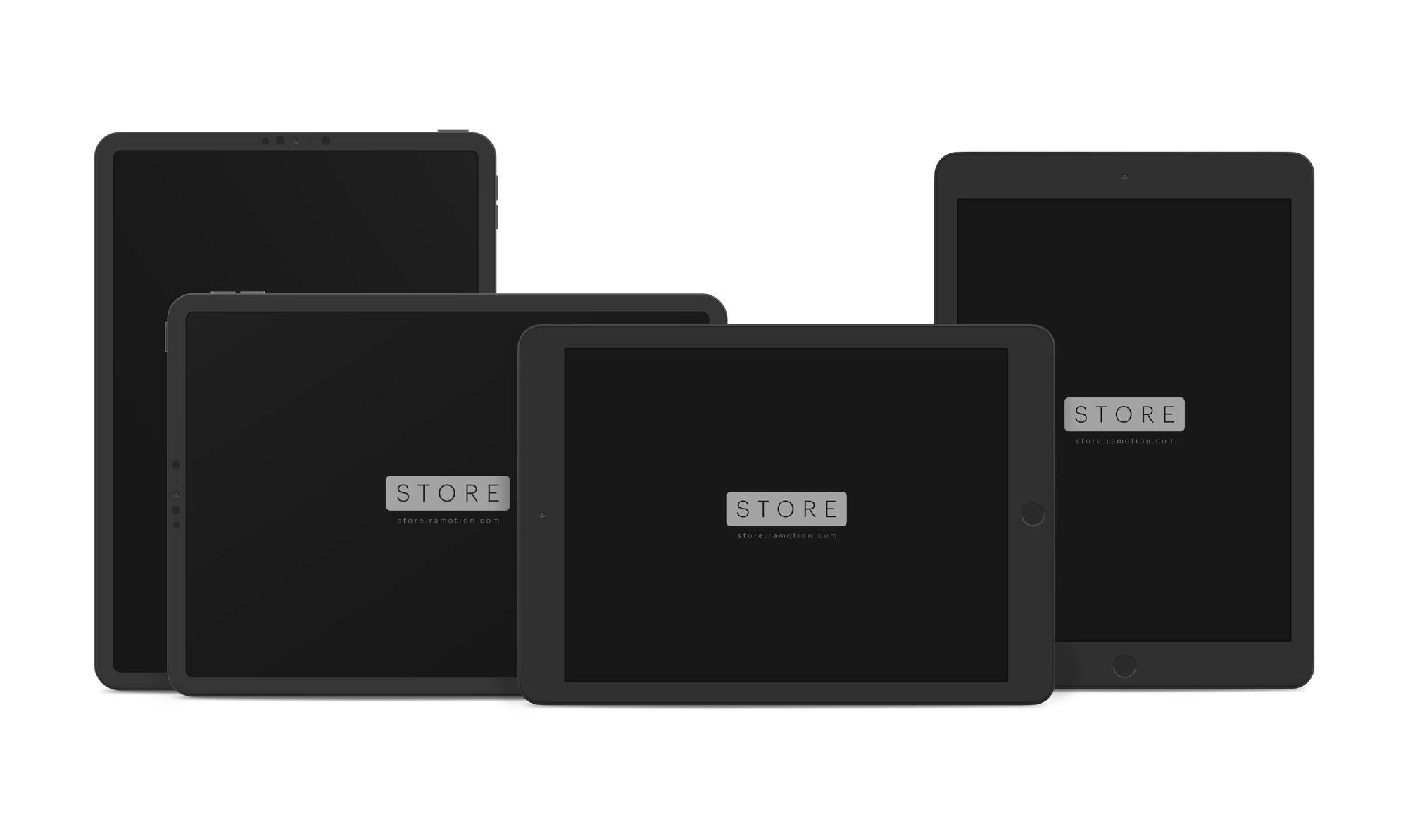 black ipad mockups