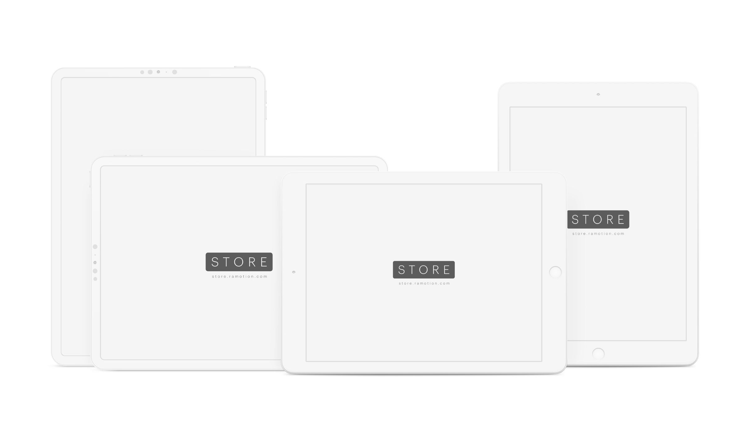 white clay ipad mockups