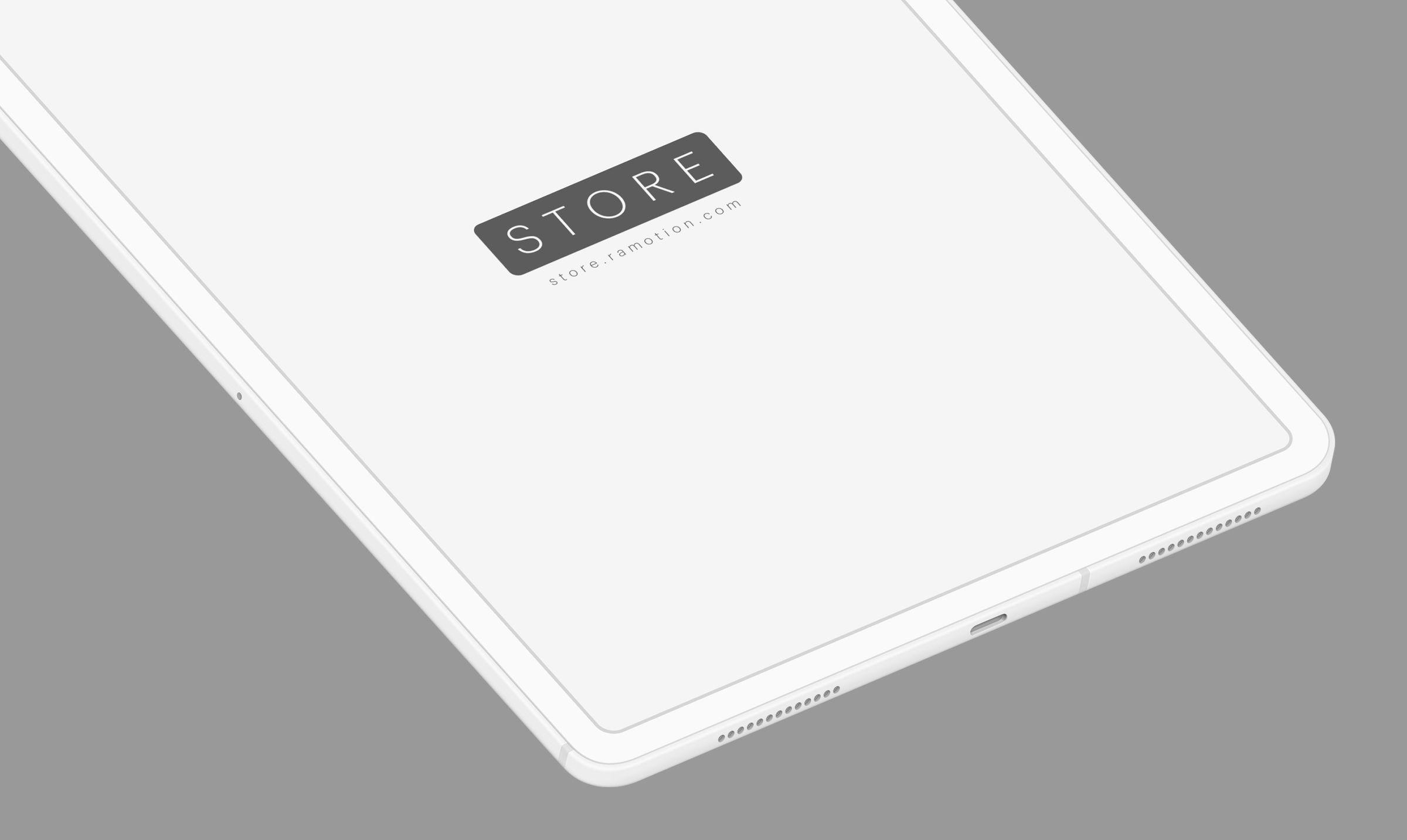 white ipad mockup