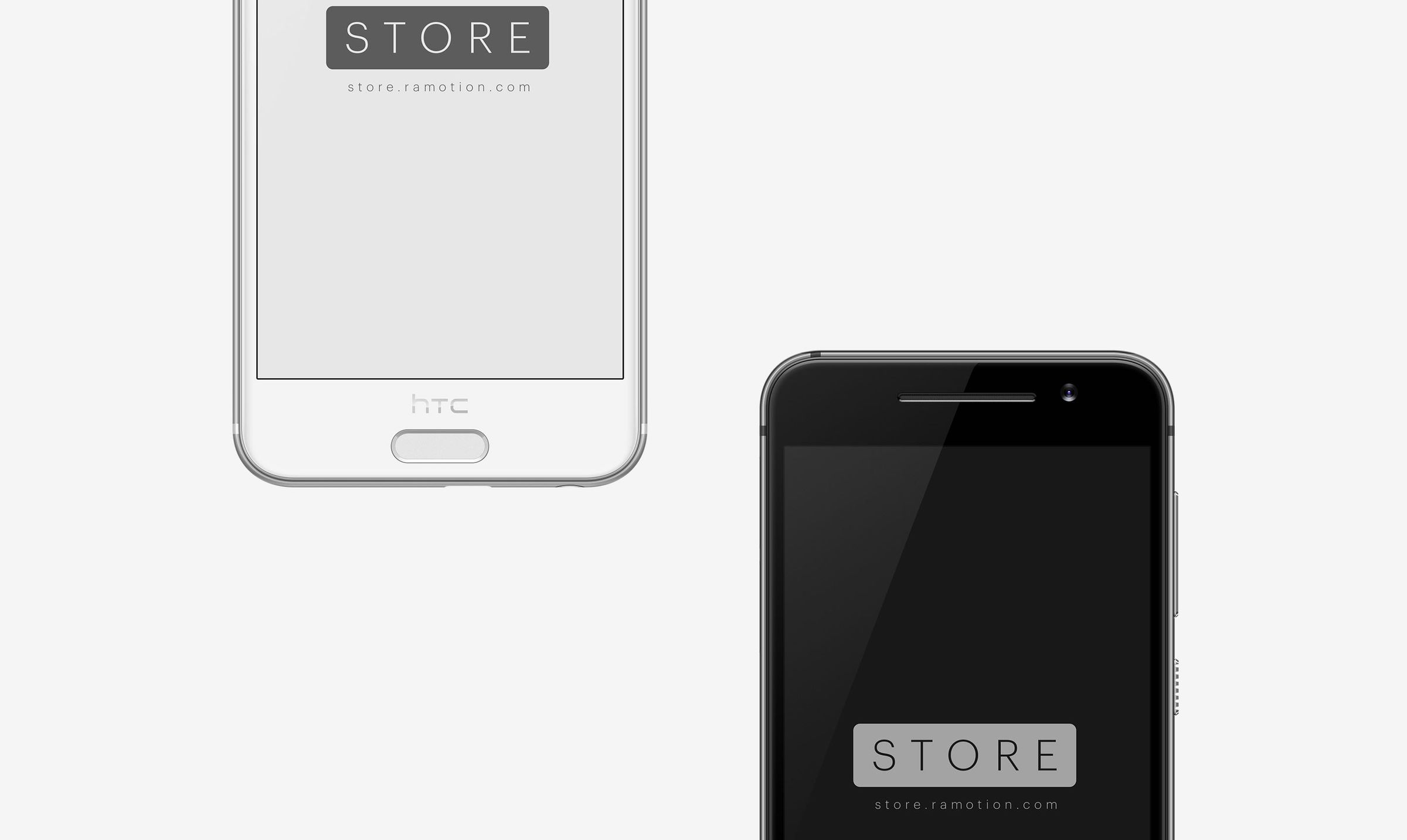 htc one frontal mockup