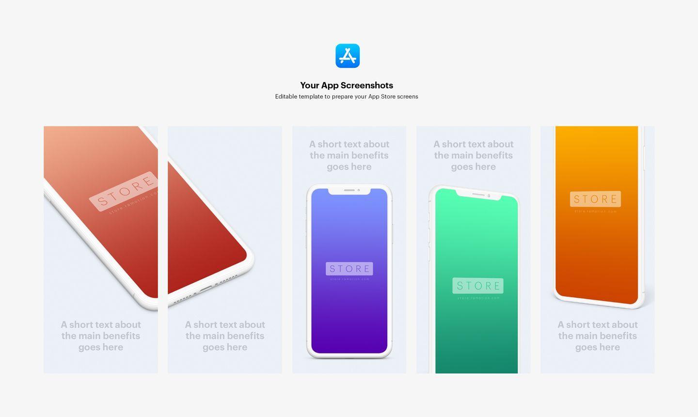 app store screenshots templates mockups