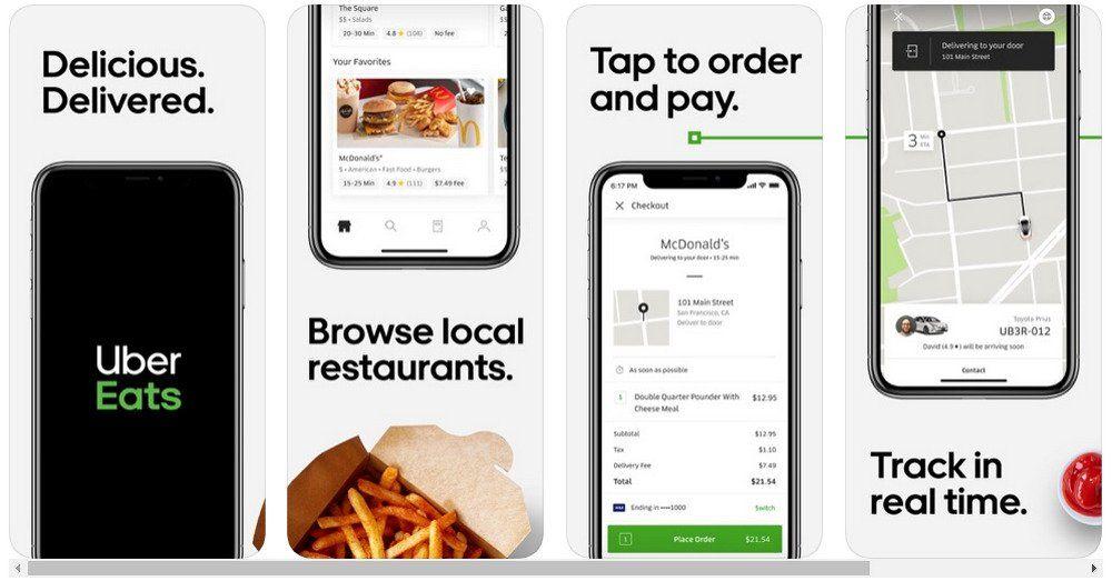Uber eats app store screenshots