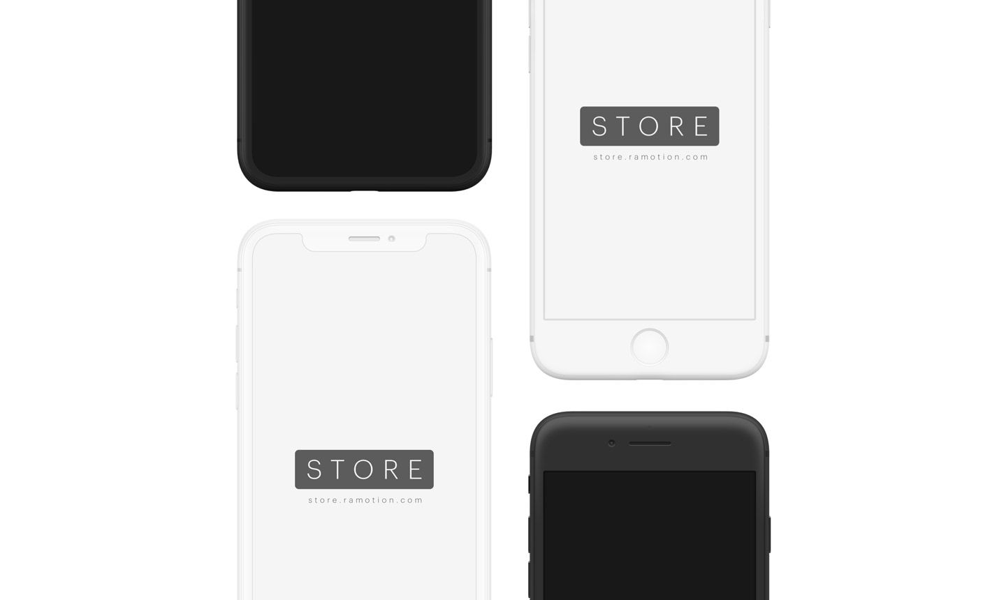 frontal iphone mockups