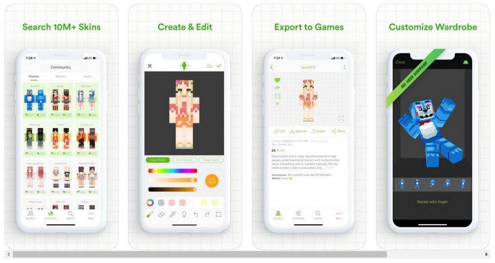 Skinseed app store screenshots