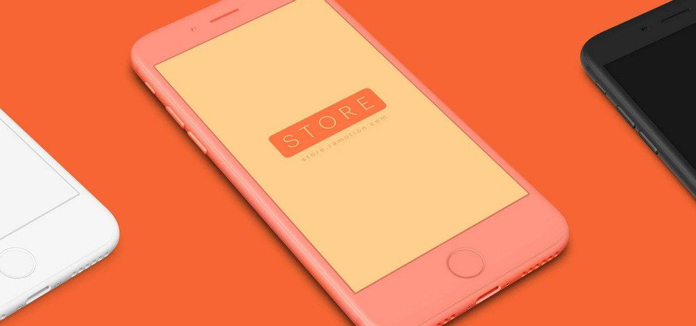 colorful iphone mockup