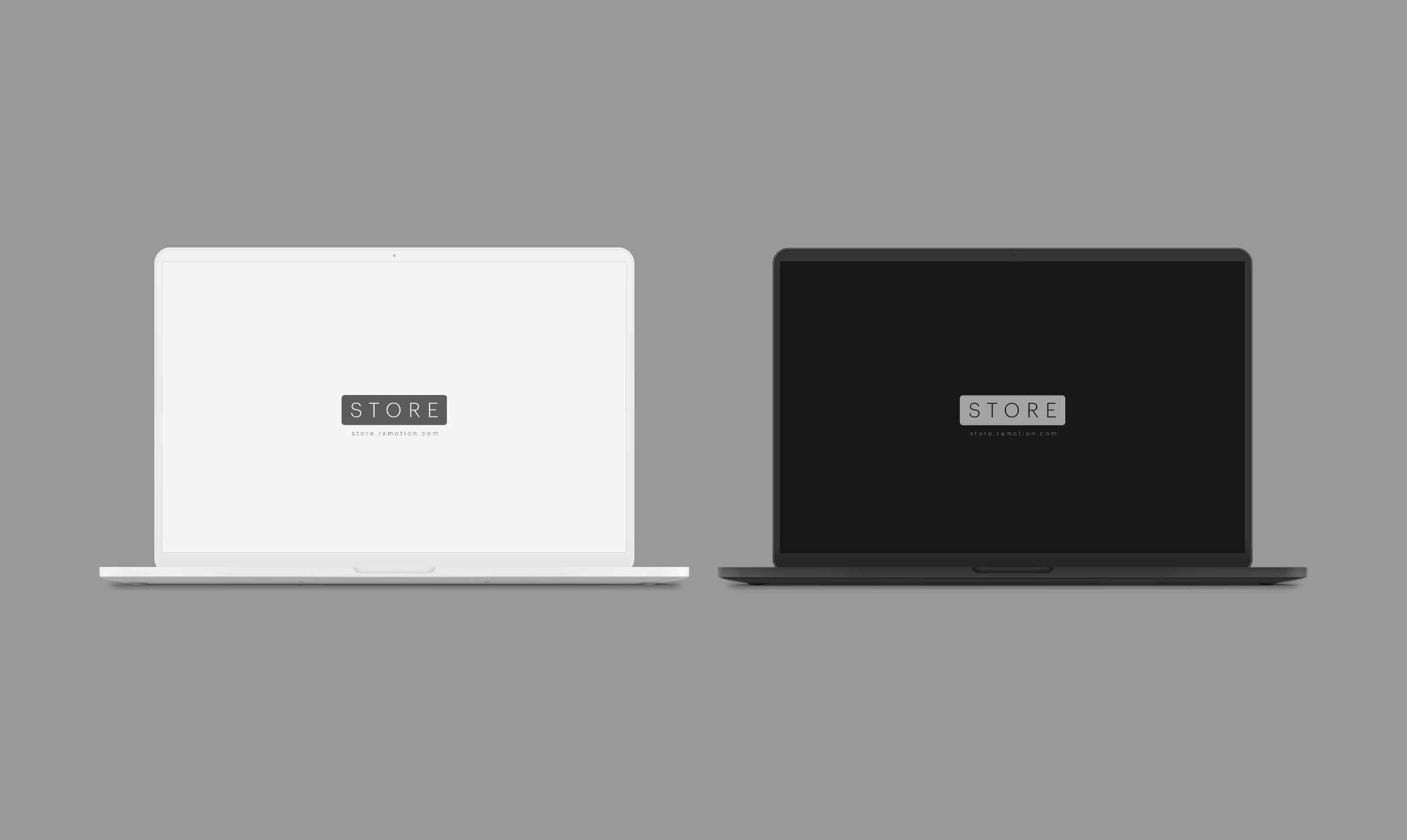 black macbook mockup