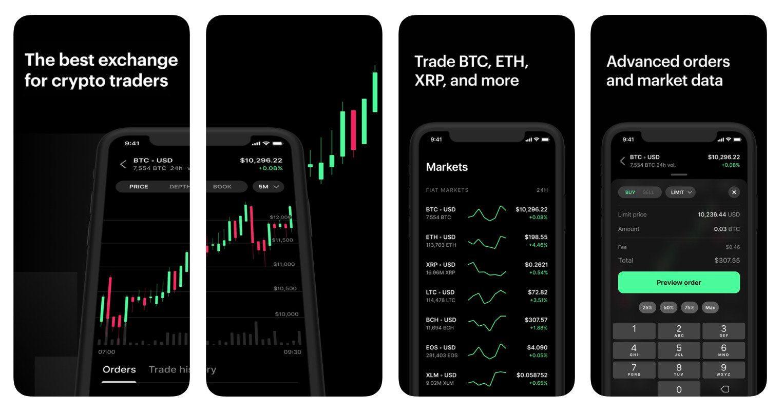 exchange app mockups