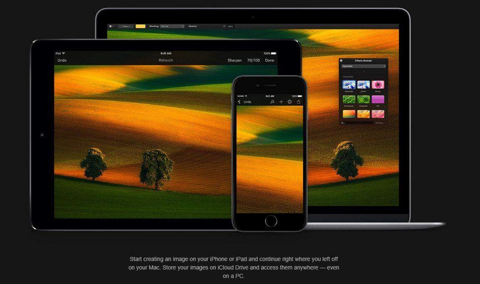 Pixelmatore website device mockups