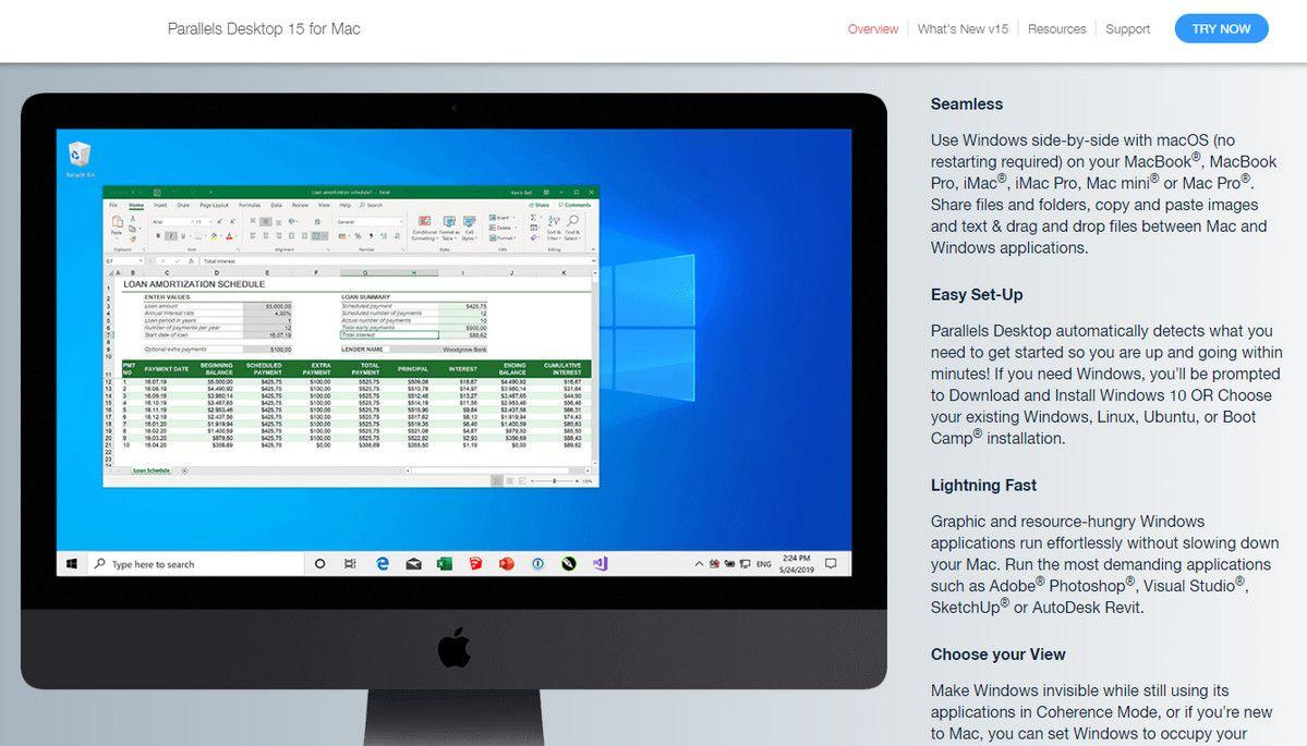 Parallels Website iMac Mockup