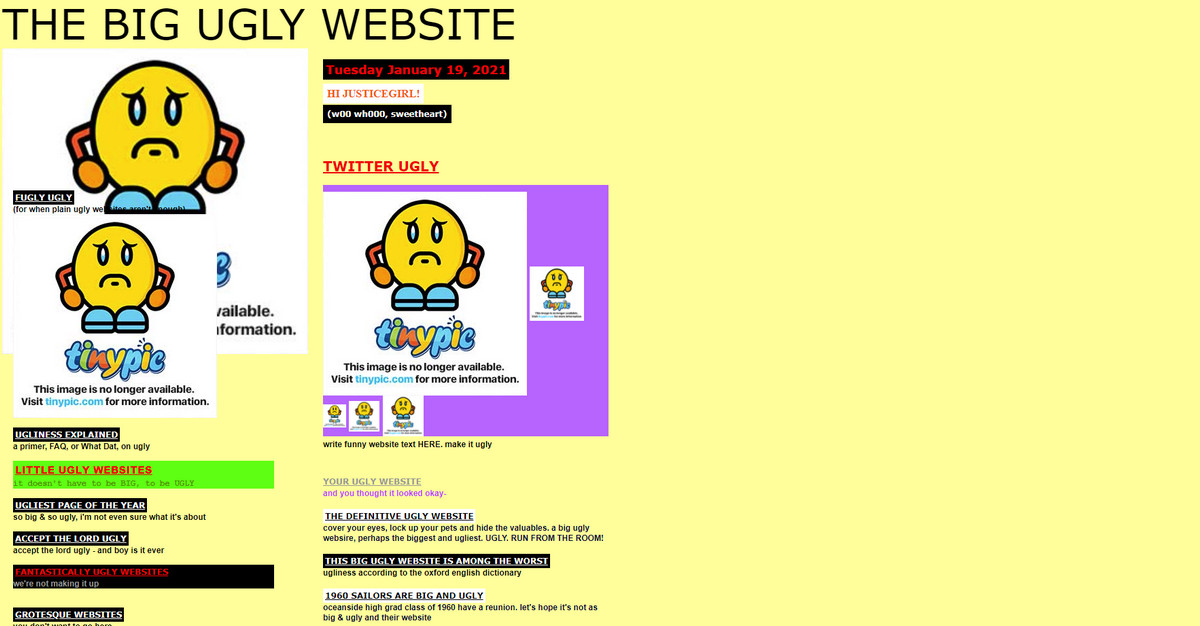 The Big Ugly Website
