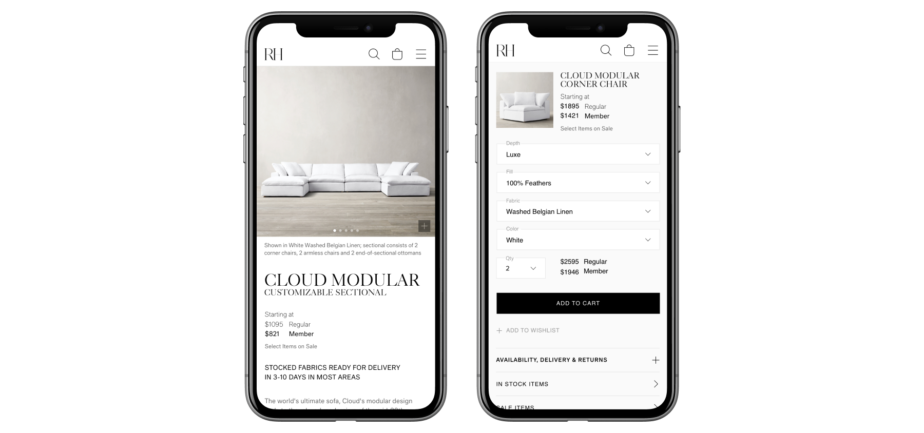 Restoration Hardware mobile